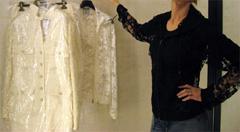 Chanel 06a black lace jacket