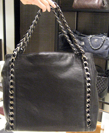 back view of Chanel's Chain Tote for 06a