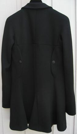 Chanel 07a black jersey jacket - back