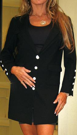 Chanel 07p long lean black jacket