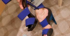 Fendi in hand Pierre Hardy scuba shoe on foot