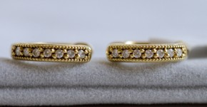 Jude Frances gold hoop earrings