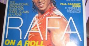 Rafa Nadal on the cover of Sept 2008 Tennis