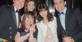 Host Sena Vafa and friends in Roppongi