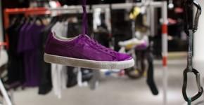 Sergio Rossi for Puma purple suede sneakers