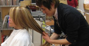 Mr. Sakai at work at Pastel