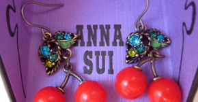 Anna Sui cherry earrings