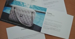 Invitation and special edition bag for Chanel Exclusives