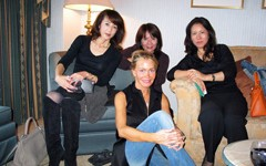 A well-dressed quartet from our trunk show in Ebisu