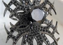 VBH tatoo ring - black diamonds