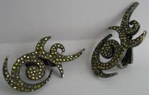 VBH yellow diamond earrings