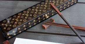 Louis Vuitton logo chopsticks