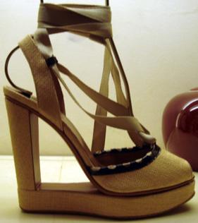 Alaia platform sandal at Bergdorf Goodman