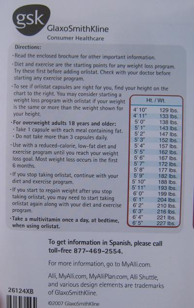 Alli height weigt Chart
