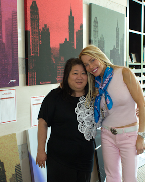 With Amy infront of David Stetson silent auction