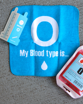 Blood Type O towel kit from Japan