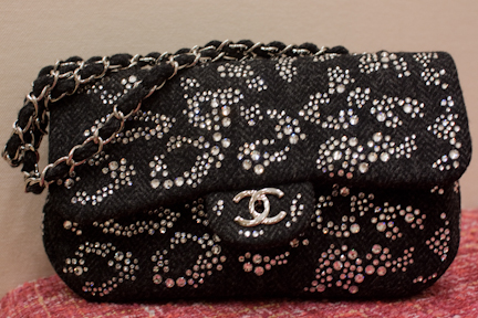 Chanel 10A Classic Bag with crystals