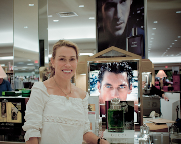 David Gandy ad perfume counter
