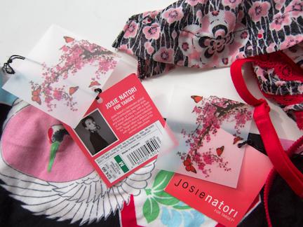 Josie Natori for Target tags