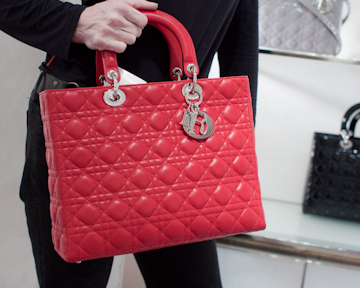 Red Lady Dior Shopper