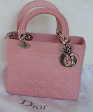 Lady Dior in rose claire