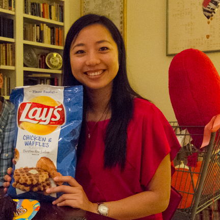 Our taste test winner - Lays Chicken and Waffles