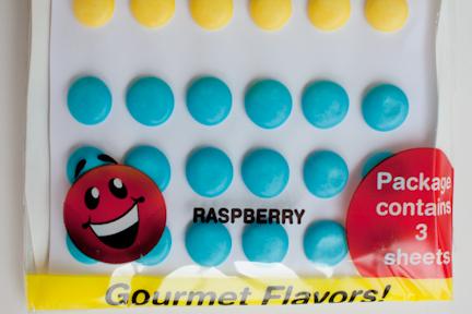 Blue raspberry Mega Buttons