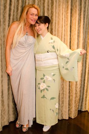 with Sherry in a beautiful kimono