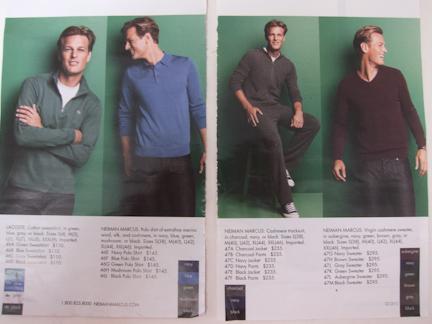 Neiman Marcus catalog model
