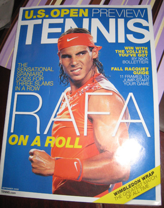 Rafa Nadal on the cover of Sept 2008 Tennis