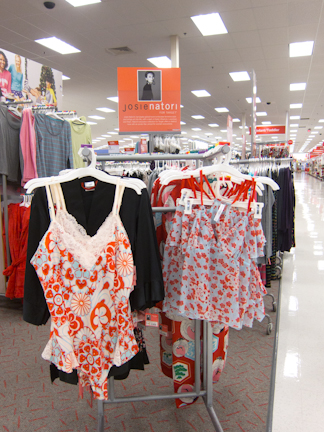 Josie Natori display at Target