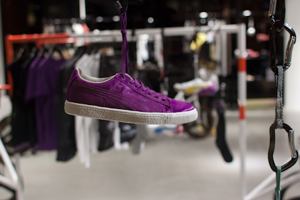 Sergio Rossi for Puma purple suede sneakers