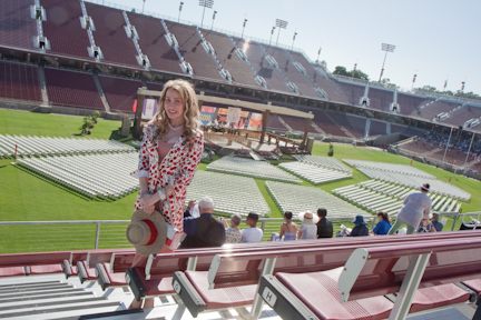 In the stands for the Stanford Commencement ceremony