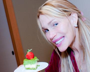 Kyo Hayashiya green tea cheesecake slice