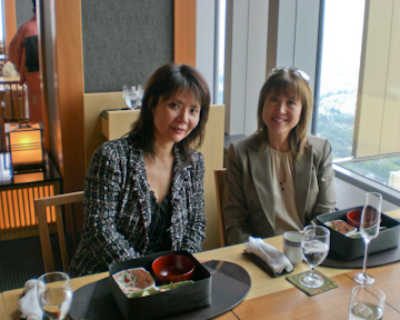 Yoko Sikes at lunch in Tokyo