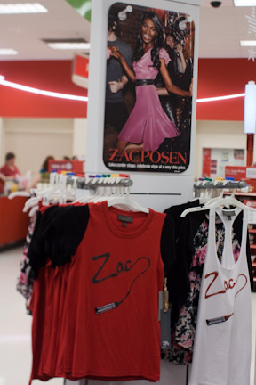 Zac Posen for Target display in-store