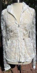 Chanel 06a ivory lace hoody