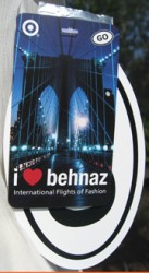 Hang tag for Behnaz Sarafpour's Target collection