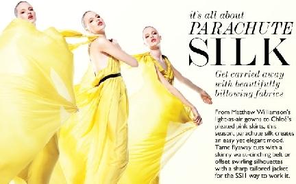 Net-a-Porter parachute silk ad