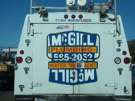 plumbing truck slogan
