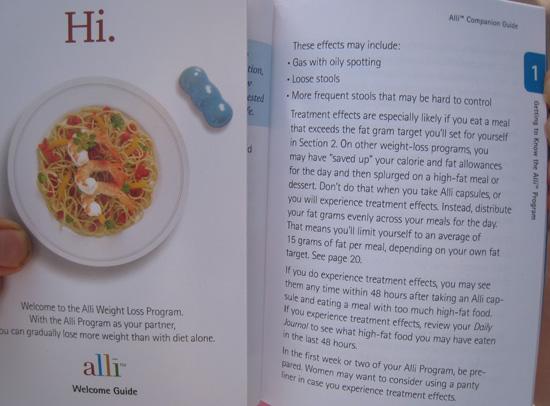 Alli diet supplement Treatment Effects