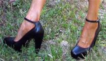 Balenciaga's black platforms