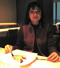 At dinner at Beige