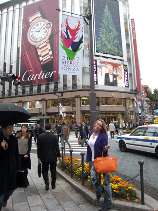 Cartier billboard in the Ginza