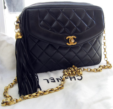 Chanel quilted bag with gold tassel - purchased from Rolando