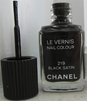 Chanel's Black Satin Nail Colour