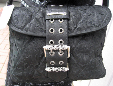 new Chrome Hearts bag from BDG with quilted crosses
