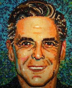 George Clooney by Roger Rocha -- Jelly Bean mosaic