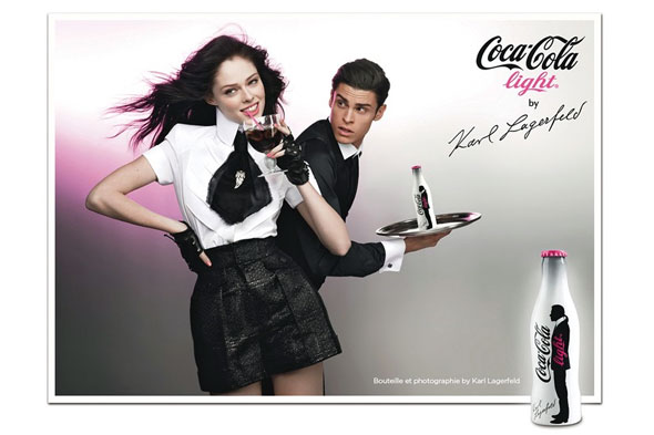 Ad campaign for Coca-Cola Light by Lagerfeld