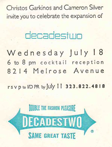 Invitation to Decades Two expansion party